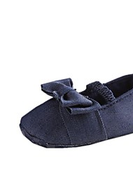 Girl's Shoes Round Toe Flat Heel Cotton Flats with Bowknot Shoes