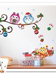 zooyoo® colorés hiboux mignons et petit jouet sur l'arbre 3d sticker mural décor à la maison stickers muraux pour enfants / salon