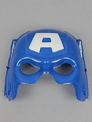 captain america pvc bleu moitié du visage masque cosplay