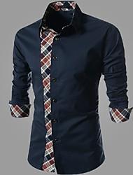 estilo menmax outono casuais camisas longas sleevecasual 1414-CS34