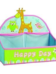 multifonctionnel pliage boîte de rangement de bureau en tissu oxford girafe
