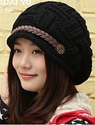 Outdoor Women's Fashion Thickening Warm Wool Cap
