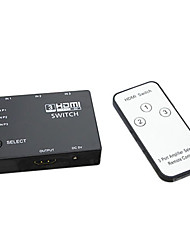 HDMI V1.3 3X1 HDMI Splitter(3 in 1 out)Support 3D 1080P