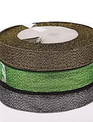 2 cm de color piezas de la caja de materiales de bricolaje cinta verde de regalo