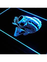S074 pescado signo luz de neón