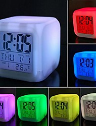 décompression coloré coway alarme LED Clock veilleuse