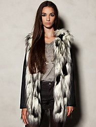 Women's Coats & Jackets , Faux Fur Casual/Work Bolo