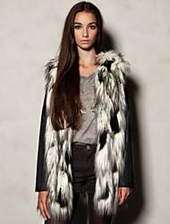 YIFULU Sleeveless Slim Fashion Temperament Elegance Round Collar Fur Waistcoat