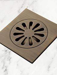 drain de plancher, antique ronde en laiton, accessoire de salle de bain (1018-j-29-13)