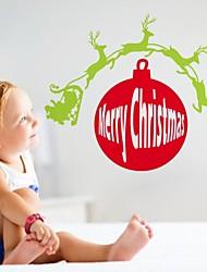 zooyoo® bonito colorido pvc removível 3d logo natal de adesivos de parede adesivos de parede de venda quente para a decoração da casa