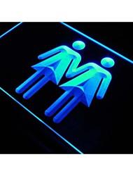 S151 toilette dame femme lesbienne signe néon utilisé