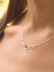 Women's Lucky Eight Word Pearl Necklace