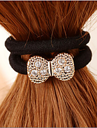 Rhinestone Bow Hair Ring