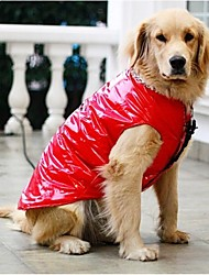 Fashionable Reflective Down Jacket Large Dog Warm Clothing for Big Dogs(Assorted Sizes)