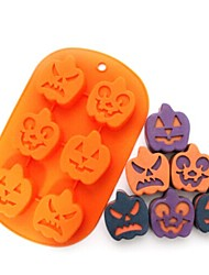 Rosalie Halloween Pumpkin Fondant Cake Chocolate Candle Silicone Mold S1897917