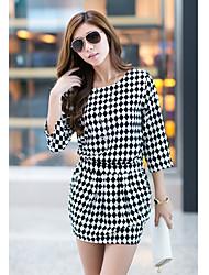 Muka europeu moda listras duas partes vestido de terno