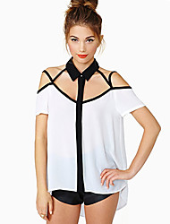 Gossip Women's All Match Off The Shoulder Chiffon Shirt
