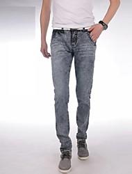 Männer 2014 neue Mode, mittelhohes ZipFly gewaschen gebleichtem vintage kombiniert Körper lange Röhrenjeans