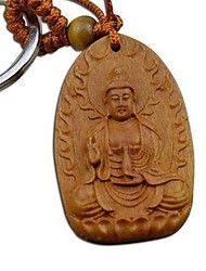 Duo Ji Mi ®Flame A Buddism Godness Guanyin Rosewood Carving Keychain