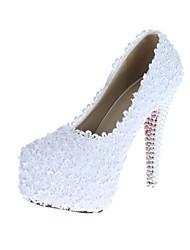 Mujer Zapatos de boda Tacones/Plataforma/Punta Redonda Tacones Boda Blanco