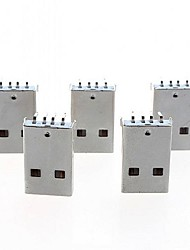 USB Type A 4 Pin Male Right Angle DIP Connector DIY(5pcs)
