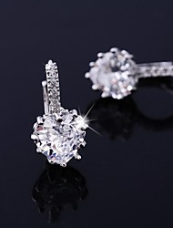 Jing Dian Fashion Simple Heart Shaped Design Zircon Earring ER0599