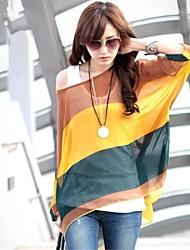 Women's Tops & Blouses , Chiffon Casual Long Sleeve