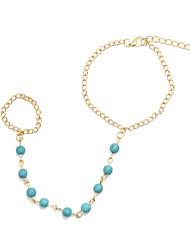 pérolas das mulheres canlyn pulseira&anéis