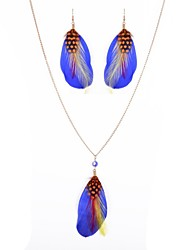 Jewelry-Necklaces / Earrings(Alloy / Glass / Feather)Party / Daily / Casual / Sports Wedding Gifts
