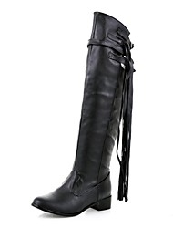 Women's Shoes Round Toe Low Heel Over the Knee Boots More Colors available