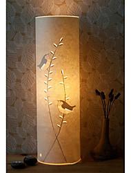 lámpara de pie 1 luz modelo pájaro pantalla de pergamino 220v retro