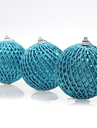 3 pcs décorations de Noël suspendus chute fourni boules de chanvre (φ = 6cm)