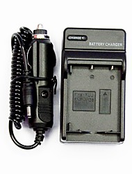 Camera Battery Charger With a car Charger for Fuji FNP-W126 (100-240V)