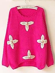 Women's New Sweet Flowers Hand Crochet  Sweater