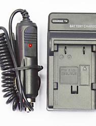 câmera carregador de bateria com um carregador de carro para canon NB2L / NB2LH (100V-240V)