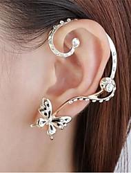 toonykelly® Mode Schmetterling mit Kristallohrringbolzen mit Ohrmanschetten