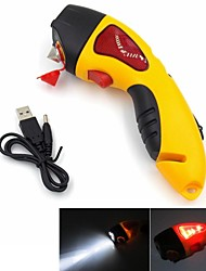Multi Function Lighting Car Emergency Hammer with Warning light and Cranking for Charging