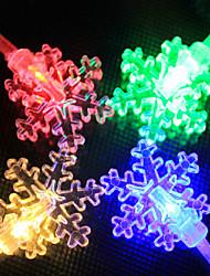 LED String Light 100 Lights Modern Snowflake Shape Chromatic Plastic 10m 220V