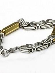 herenmode persoonlijkheid titanium staal goud glazuur armbanden