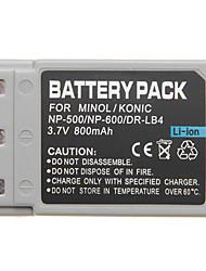 np-500 np-600 mini-dv batttery pour Dimage Minolta g600 g500 G530
