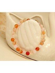 Fashion Round Bead Natural Stone Bangles Bracelets for Women in Jewelry