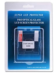 профессиональный протектор экрана ЖК-оптического стекла специально для Nikon D200 DSLR камеры