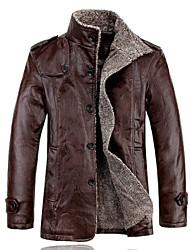 elegante de alta qualidade outwear couro do plutônio dos homens mr.lin