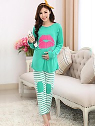 Maternity's Fashion Comfortable Breastfeeding Pajamas Clothing Set