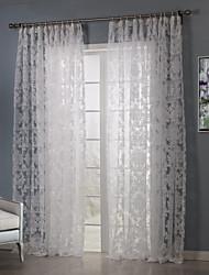 país dos paneles florales dormitorio blanco botánico cortinas transparentes tonos