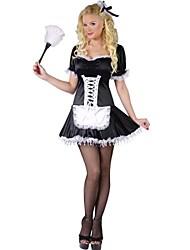 elegante Mädchen schwarzem Satin Mädchenuniform