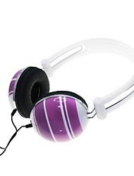 Programa Fome Zero-005 plugue de 3,5 mm para auscultadores estéreo música - branco + roxo