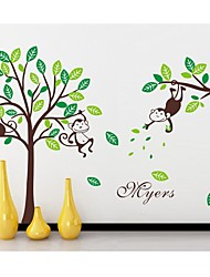 Wall Stickers Wall Decals, Monkey Tree Kidsroom PVC Wall Stickers