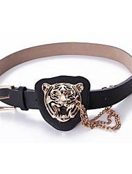 ICED™ Women's Fashion Tiger Head PU Belt