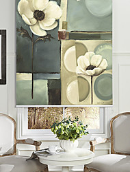 Oil Painting Style Still Life Floral Roller Shade